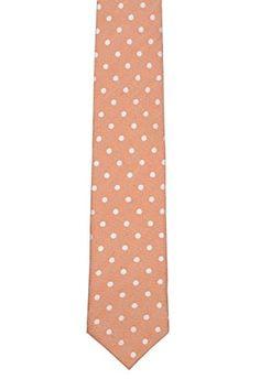 Cravate - Soie Jacquard Tissé Dans L'encoche Orange Solide ehfeA