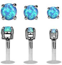 Set of 3 Imitation Opal Triple Forward Helix Labret Studs-Tragus-Car Conch Piercing Jewelry, Cartilage Earrings, Tragus, Ear Piercings Chart, Ear Peircings, Piercing Chart, Nose Piercings, Forward Helix Earrings, Body Jewelry Shop