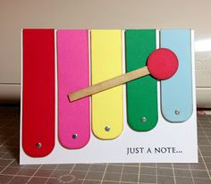 ~ Marilyn's Cricut Cards ~: Xylophone - Just a Note