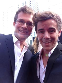 John Green and Connor Franta