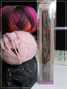 magico II, meilenweit tweed, meilenweit tweed 6-fach - alle von lana grossa, strumpfstricknadeln von knitpro - gefunden auf leekay.de