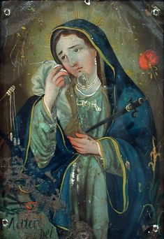 Artista Desconocido Nuestra Señora de los Dolores, a finales del siglo 19