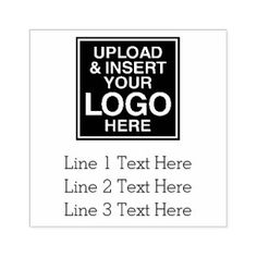 Shop Logo Office or Business Address Label 3 Lines Text Self-inking Stamp created by BusinessStationery. Personalize it with photos & text or purchase as is!