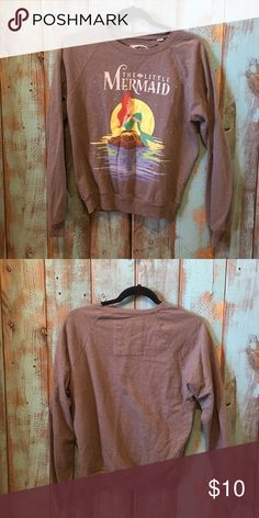 Disney Little Mermaid sweat shirt / size medium EXCELLENT CONDITION! Worn once.                                           ------------------------------------------------------------------------------------------No rips, stains or tears! NO TRADES! Smoke free pet free home! Please submit all offers through the offers tab. 😀 Disney Tops Tees - Long Sleeve