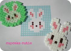 Free Easter Bunny cross stitch / hama bead pattern from Cupcake Cutie