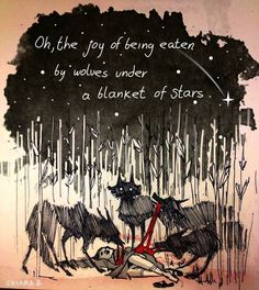 chiara bautista. girl. wolves. oh, the joy of being eaten by wolves under a blanket of stars.