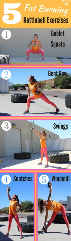 5 Kettlebell Exercises to Add to Your Workout Routine via @DIYActiveHQ #workout #fatburn