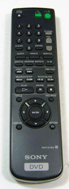 SONY RMT-D116A DVD Player Remote Control OEM DVP-S350 DVP-S360 DVP-S363 DVP-S365