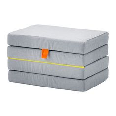 SLÄKT Pouffe/mattress, foldable $89. Folded depth: 48 cm Folded height: 36 cm Length: 193 cm Width: 62 cm Thickness: 9 cm
