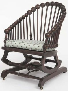 "Common Sense Antiques - ""How political unrest reinvented America's antique furniture design"" - Hunzinger lollipop rocking chair www.furnituredetective.com"