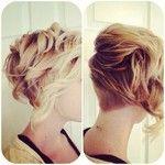 Instagram photo by boredwithbeauty - Loving this curly undercut bob✨  #undercut #bob #bobcut #angledbob #shorthair #blonde #curlyhair #hair ...