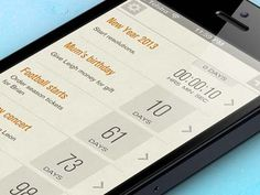Date - Mobile interface design UI UX