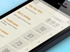 Date - Mobile interface design UI UX 크항. 타이포그래피의 중요성. 이미지 하나 없이도 깔끔하고 멋진 UI