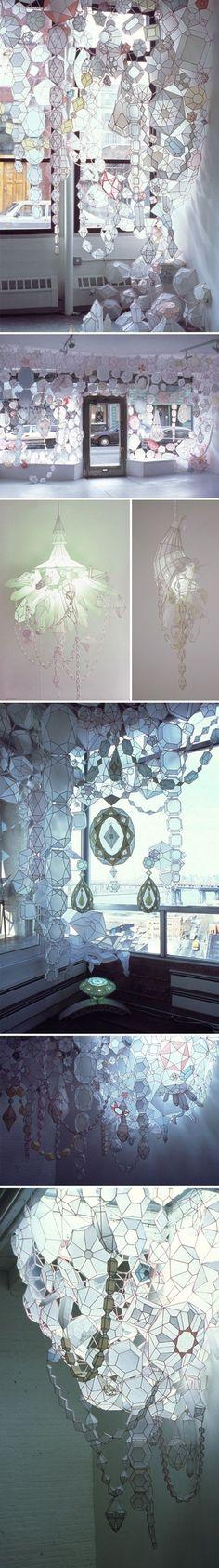 paper/mixed media installation artist Kirsten Hassenfeld: