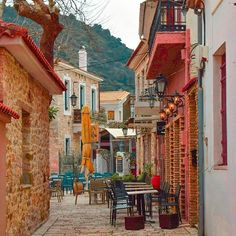 Cafe in Nafpaktos town, Aitoloakarnania region west Greece Honeymoon Places, Ethnic Design, Artist Gallery, Aerial Photography, Greek Islands, Greece Travel, Plan Your Trip, Athens, The Good Place