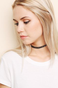 Black Choker Necklace   Brandy Melville