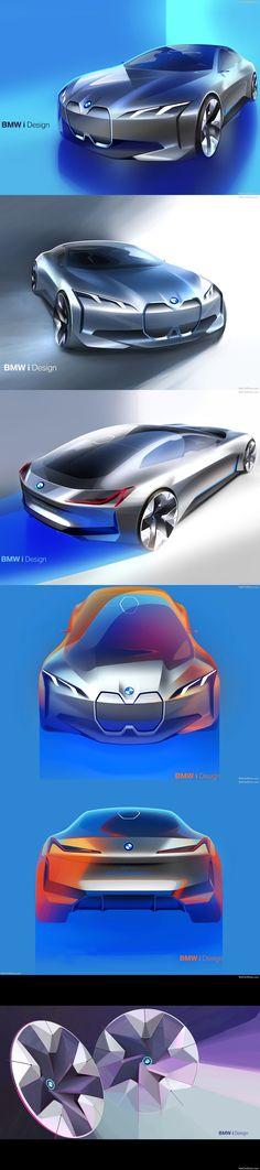 BMW i Vision Dynamics Concept 2017 Official Sketch
