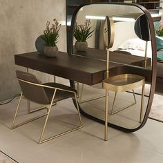 wooden dressing table designs for modern bedroom furniture sets 2019 White Dressing Tables, Dressing Table Vanity, Dressing Room, Modern Closet, Modern Bedroom, Wall Mounted Dressing Table, Modern Dressing Table Designs, Vanity Design, Small Bedroom Designs