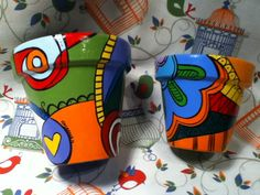 Mis macetas- encontra mis trabajos en Facebook NACHA'S PORCELANA - Nazarena - Argentina