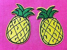 Cutie Pineapple (3.5 x 6 cm) Embroidered Iron on Patch Applique