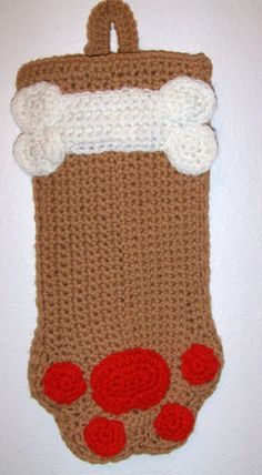 Adorable Tan  Dog Paw Goodie Bag or by MissyOodlesCreations, $12.00
