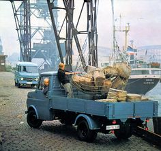 Hamburg harbour 1970 calendar - Opel Blitz  Hamburg is Germany's largest port, and Opel was part of teh logistics. Not for lomng anymore, because  afew years alater Opel cancelled its light truck.
