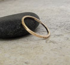 Gold Wedding Band Simple Gold Wedding Ring Womens by GoldSmack