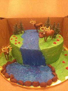 My kiddos Animal Birthday cake with Schleich figurines Safari