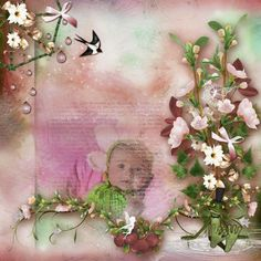 Bribri62-Scrap: Ma page avec le Kit La fée printemps de Kittyscrap
