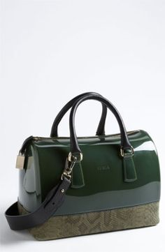 Furla 'Candy' Snake Embossed Satchel by ShopSimple