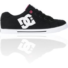 DC Shoes Girls Chelsea TX Black & Pink Shoe