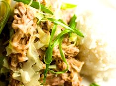 Crockpot Kalua Pork - The crockpot is the perfect method for making juicy, succulent kalua  pig or kalua pork.