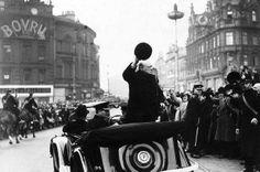 Churchill in Liverpool 1945