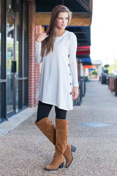 """""""By Your Side Tunic, Ivory""""We saw how much you loved this fab tunic so we knew we had to find it more colors for you! So, we are ecstatic to present it to you in gorgeous ivory!  #newarrivals #shopthemint"""
