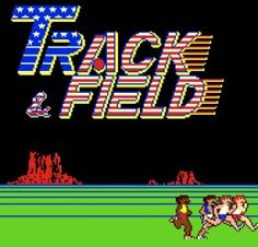 Track and Field was my other arcade fave due to my unusually fast-twitch finger muscles. Classic Video Games, Retro Video Games, Track And Field Games, Track Field, Playstation, Arcade Console, Disney Drinks, Retro Arcade Games, Nintendo