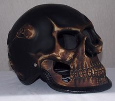 Motorcycle Helmet Skull Skeleton Death Bronx Airbrush Full Face M XXL Skull Helmet, Full Face Motorcycle Helmets, Ghost Rider, Skull And Bones, My Ride, Satan, Horns, Skeleton, Death