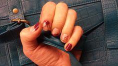 Negative space nail art - eksperiments uz sevis.