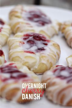 overnight cherry danish recipe. so easy