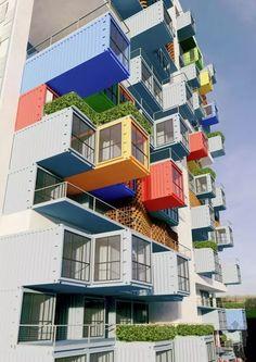 炫酷而且实用的集装箱摩天大楼
