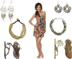 Cute dress, and lovely jewelry!