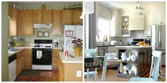 This blogger gave her kitchen a serious DIY facelift by extending the height of her cabinets to the ceiling.
