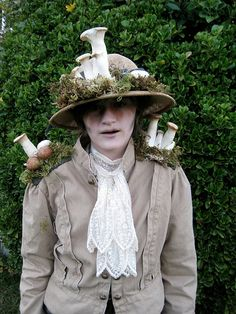 """My daughter's Victorian Explorer who encountered a rare mushroom that killed her and covered her in mushrooms costume."" via ScottyJ"