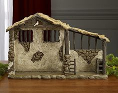 Three Kings Gifts Christmas Nativity Lighted Stable Manger for 10 inch Scale Set *** Click image for more details. (This is an affiliate link) Nativity Stable, Nativity Creche, Outdoor Nativity, Christmas Nativity Scene, A Christmas Story, First Christmas, Christmas Crafts, Christmas Decorations, Nativity Sets