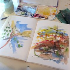 My work has changed, evolved, over the past year and I sometimes wonder whether a sketchbook is still relevant to my creative process. Watercolor Sketchbook, Artist Sketchbook, Sketchbook Pages, Art Journal Pages, Art Journals, Square Sketchbook, Nature Drawing, Learn Art, Sketchbook Inspiration