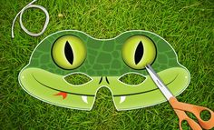 Snake Party Mask  Printable PDF by theRasilisk on Etsy, $3.99