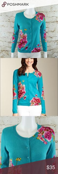 Talbots Spring Cardigan Size 2XL. Never worn. Brand new. Super cute with white pants! Talbots Sweaters Cardigans