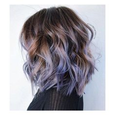 honey caramel ombre purple   pastel   hairstyles   medium   curly   lavender   lilac   highlights