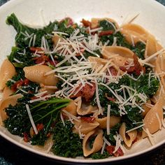 August 2011 Superfast Fan of the Month. Kat's Orecchiette with Kale, Bacon, and Sun-Dried Tomatoes