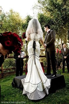 I'm never getting married, but how cool is this dress?!