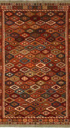 What colors! Beautiful Persian Rug.